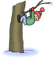 Image of Child Climbing a Tree
