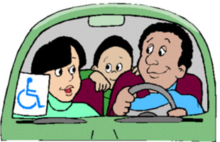 Image of Family in car