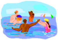 Picture of ppl swimming
